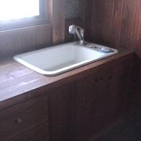 洗面所 無垢の木 シンプル モダン