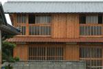 木の家 三段窓 木のガラス窓