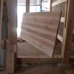 木の家 玄関とびら
