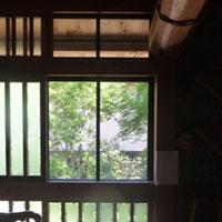三段窓 網戸 銅 亀甲 平織り