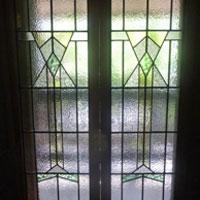 ステンドグラス モダン 緑