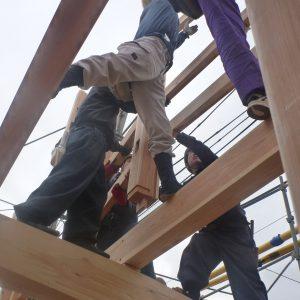 上棟(じょうとう)工事 木の家