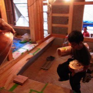 木の家 銅キッチンフード
