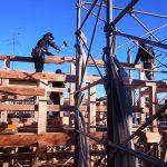 上棟 木組み