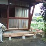 木の家 縁側