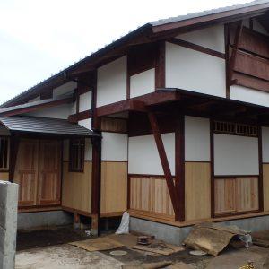 木の家 漆喰しっくい